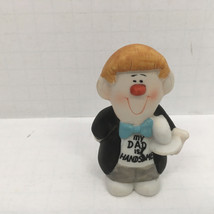 vintage  1988  my dad is handsome small figurine  nik nak collectible gift - $12.17