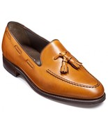 Men's Brown Tassel Loafer Rounded Toe Party Wear Handmade Genuine Leather Shoes - $99.90