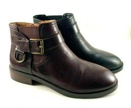 Aerosoles Susan Leather Round Toe Tailored Ankle Bootie Choose Sz/Color - $79.20