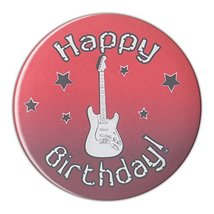 """3"""" Pin-Back Button - Happy Birthday Button w/Guitar - Party Favors, Deco... - $129.99"""