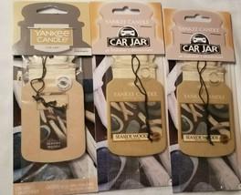 Yankee Candle lot of 3 Car Jar Air Freshener Fragrance Seaside Woods New - $10.31