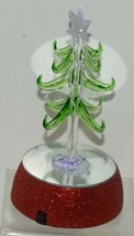 Ganz EX20536 Light Up Christmas Tree 12 Ornaments 6 Inches Glass image 2