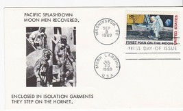 MOON LANDING C76 FIRST DAY OF ISSUE ON MOON MEN RECOVERED CACHET 1969 - $1.98