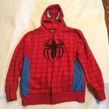 Halloween Marvel Spider man jacket Youth Size 8 10 medium mask hoodie re... - $12.99