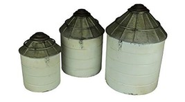 Things2Die4 Vintage Farmhouse Tin Silo Canister Set of 3 - $96.27