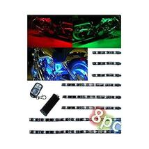 OCTANE LIGHTING 10Pc Motorcycle Rgb/Red/Green/Blue/Yellow Glow Lights Fl... - $44.50
