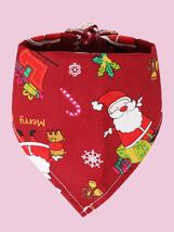 Santa Claus Print Pet Bandana,Dog bandanas, Cat bandanas,Pet gifts, Pet birthday - $10.60