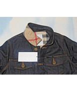 BURBERRY BOYS DENIM JEAN JACKET NOVA CHECK INSIDE SIZE 10, 12 BNWT $295 - $179.99
