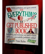 """The Everything Get Published Book"" by Peter Rubie; Large Softcover - $4.50"