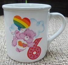 Vtg American Greeting 1985 Care Bears 6th Birthday Love A Lot Bear Stoneware Mug - $12.99