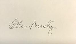 Ellen Burstyn Autographed Hand Signed 3x5 Index Card The Exorcist w/COA - $14.99