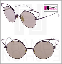 DITA BELIEVER Round Lilac Purple 18K Gold Plated Flash Mirrored 23008 Sunglasses - $296.01