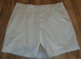 Casuals Roundtree & Yorke Size 50 Waist RELAXED FIT White Cotton New Men... - $33.18