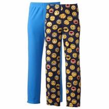 Lot Of 2 Fleece Pajama Pants Mens Size XL Emoji Pajamas Sleep Lounge Emo... - $14.82