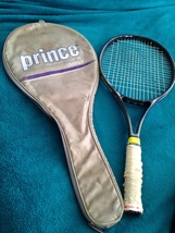 prince graphite compxb oversized tennis racket with a tennis racket cover - $99.99
