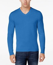 NWT $96 Club Room Men's 2XB Merino Wool Blend VNeck Sweater Palace Blue ... - £36.44 GBP