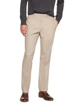 5840-2 Banana Republic Mens Khaki Beige Non Iron Slim Fit Dress Pants 38... - $79.19