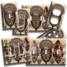 African Ancient Warrior Tribe Mask Light Switch Outlet Wall Plate Room Art Decor - $10.99+