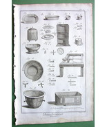 COPPERSMITH Utensils Making - 1763 Copperplate Engraving Print DIDEROT - $7.64