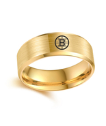 Boston Bruins NHL Hockey Sport Team Logo Tungsten Carbide Ring D3 - $32.99