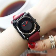 2018 Top Brand Square Women Bracelet Watches Contracted Leather Crystal ... - $48.50