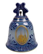 B&G Bing & Grondahl Blue New Year Bell 1974 Denmark Roskilde Domkirke Li... - $16.95