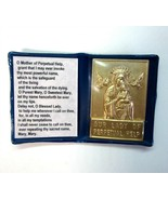 Our Lady of Perpetual Help Embossed Metal Holy Card Plaque in Pocket Fo... - $8.99