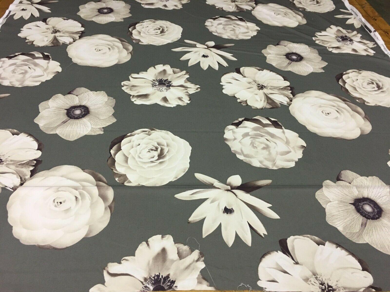 Iman Home Foto Fleur Floral Print Multi-Purpose Cotton Fabric 1.75 yards - FF3