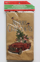 Christmas Gift Bag Kraft Paper Bags Candy Cookie Exchange Lunch Bags Set... - $12.86