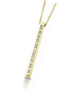 Personalized 3D Engraved Bar Name Necklace Custom 4 Sides Pendant - $17.99
