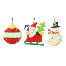 Darice Christmas Claydough Ornaments: 3 inches w - $5.29
