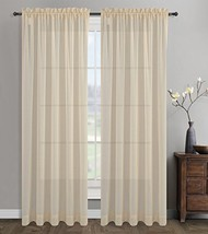 Urbanest 54-inch by 63-inch Sahara Set of 2 Linen Sheer Curtain Drapery Panels,  - $28.70