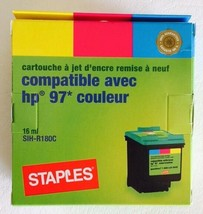 Staples Tricolor Inkjet Cartridge Compatible With Hp 97 Printer RE-MANUFACTURED - $9.90
