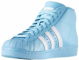 adidas Originals Big Kids Pro Model Sneaker Bright Cyan/White B39373 - $68.46