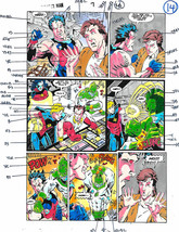Original 1990's Captain Marvel vs Avengers Wonder Man color guide art 7 ... - $99.50