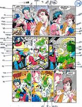 Original 1990's Captain Marvel vs Avengers Wonder Man color guide art 7 page 14 - $49.99