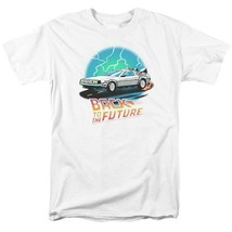 Back To Future Drawing T-shirt Delorean 1980's movie retro cotton tee UNI127 image 2