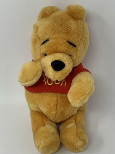 "Disney Store Parks Winnie the Pooh Bear Plush Soft Teddy 10"" Stuffed Animal"