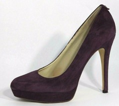 Michael Kors women's pumps shoes platform suede leather purple heels siz... - $37.61