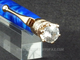 Queen Crown Royal Jewel Designer Silky Royal Blue with Crystal - $34.99