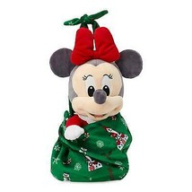 Disney Parks Babies Minnie Yuletide Farmhouse Holiday Plush Doll in Pouc... - £30.09 GBP