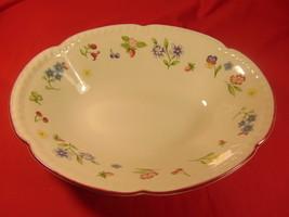"9 1/4"" Oval Vegetable Bowl, from Johnson Bros., in the Fleurette Pattern. - $16.99"