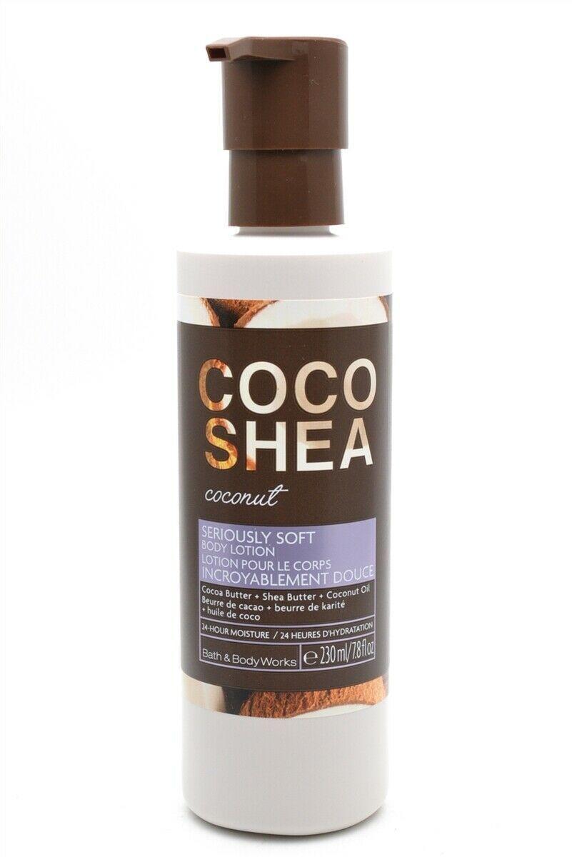 Bath & Body Works Coco Shea Coconut Seriously Soft Body Lotion 7.8 Fl Oz.