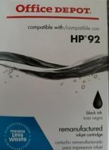 HP 92 ~ Office Depot Brand ~ Inkjet Ink Cartridge ~ Black ~ NIB - $10.30
