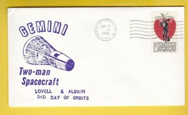 TWO-MAN SPACECRAFT GEMINI 3rd DAY ORBIT LOVELL & ALDRIN CAPE CANAVERAL 1... - $1.98