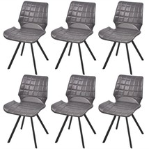vidaXL Set of 6 Dining Office Living Room Kitchen Chairs Artificial Leat... - $243.99
