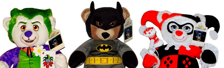 9f92749ec91 Build a Bear Batman Harley Quinn The Joker DC Comics 16in. Exclusive Teddy  Set