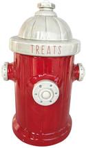Blue Sky Ceramic Fire Hydrant Treat Jar, Red - $65.70
