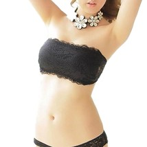 Women Wireless Lace Bralette Bandage Padded Strapless Adjustable Back Th... - $15.00