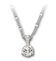 Authentic Swarovski Solitaire White Crystal Pendant - $66.57
